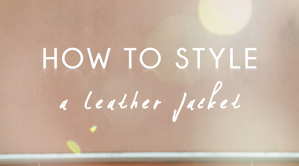 How to style a leather jacket - sound of beauty style